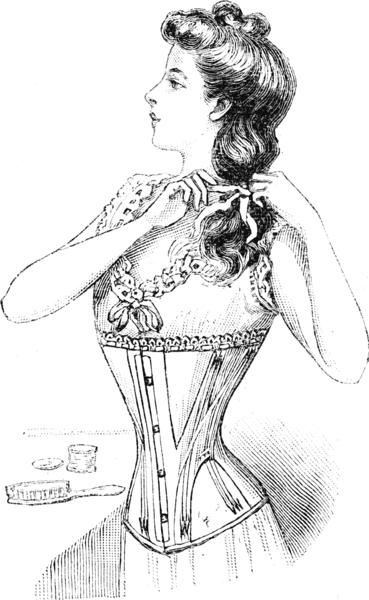 Zeichnung aus dem Magazin  Au Bon Marche ca. 1900