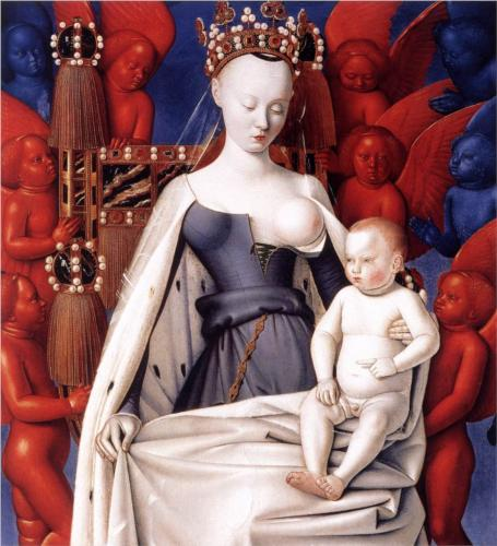Madonna and Child, Jean Foquet um 1450.