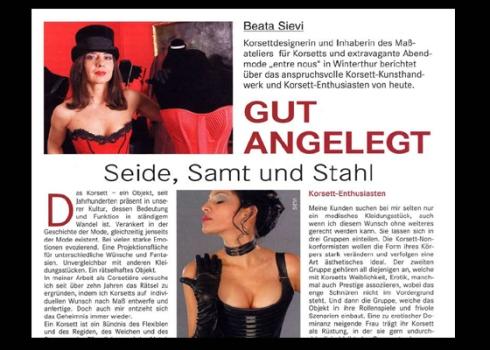 Korsett-Handwerk damals und heute, Beata Sievi Winterthur