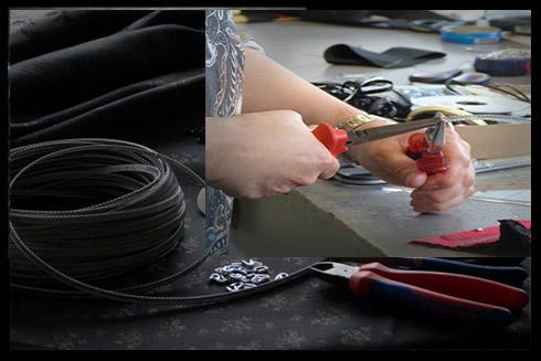 Spiralfedern zum selber schneiden und Endkappen, Einheiten 10m inkl. Kappen CHF 25 CHF