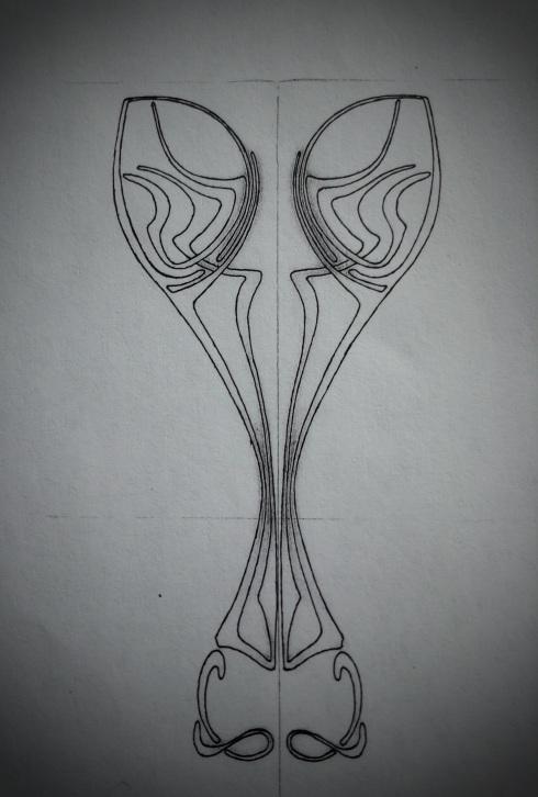 Fertiger Ornament Entwurf