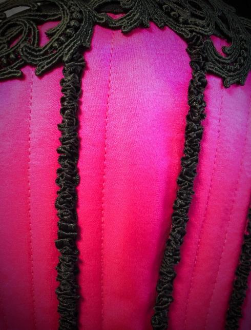 Embelishments on the corset Roxane by Beata Sievi