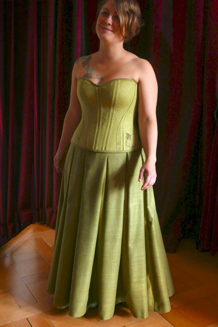 Hochzeitskorsett angefertigt von Beata Sievi. Wedding-corset by Beata Sievi Corset